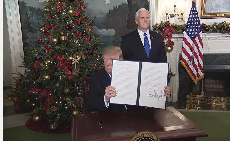 ترامپ بیتالمقدس را به عنوان پایتخت اسرائیل به رسمیت شناخت