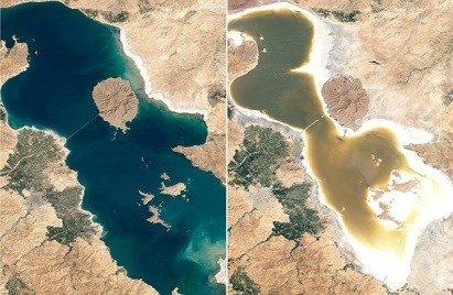 هشدار به کاهش سطح آب دریاچه ارومیه
