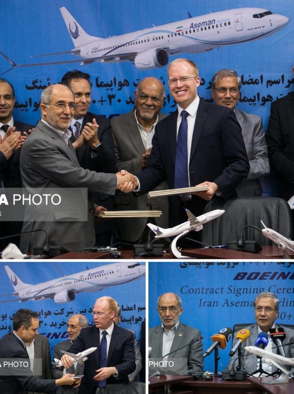 قرارداد خرید ۳۰ بوئینگ هواپیمایی آسمان امضا شد