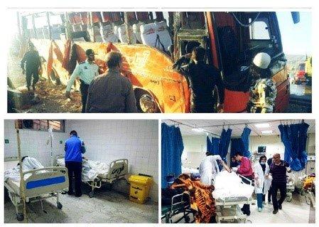 گزارش کمیسیون امینی راه ها از دلایل واژگونی اتوبوس دانش آموزان