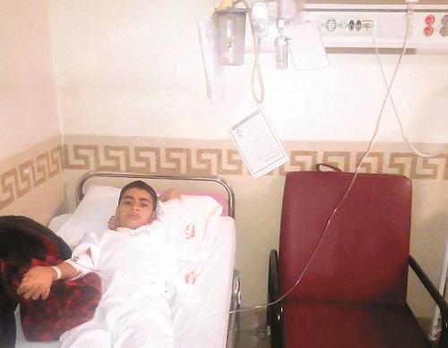یک دانش آموز بر اثر تنبیه معلم در بیمارستان بستری شد