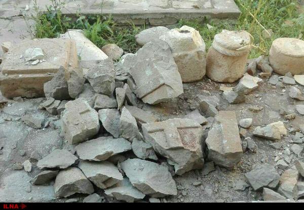 «تخریب آثار تاریخی درپایگاه میراث فرهنگی ایذه توسط نگهبان و به دلیل مصرف «داروهای اعصاب
