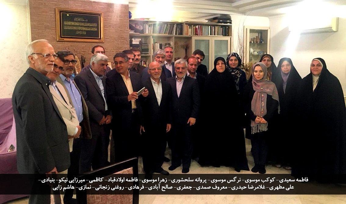 دیدار نوروزی جمعی از نمایندگان با دختران میرحسین