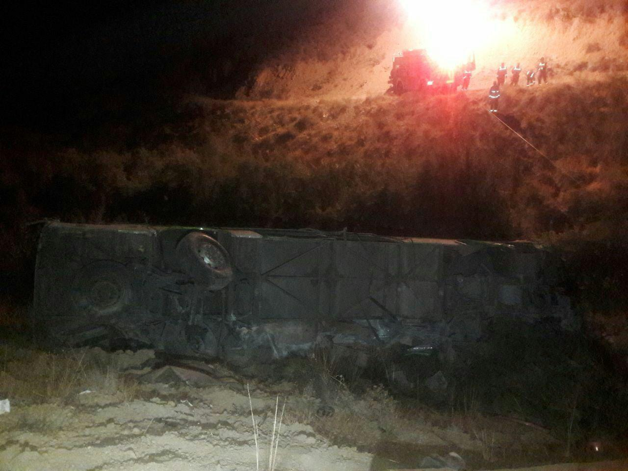 سقوط اتوبوس به دره جاجرود  ۱۱ کشته برجای گذاشت