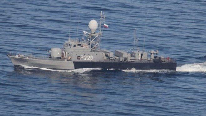 هشدار موشکانداز ارتش  به کشتی آمریکایی