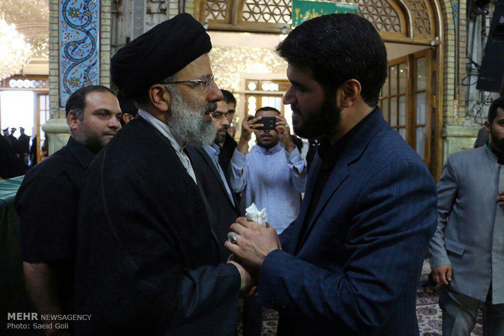 دیدار مداح عید فطر و رییسی
