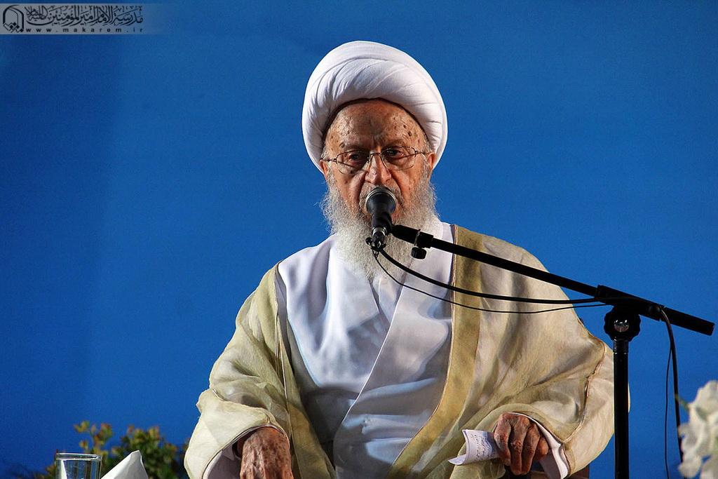 واکنش مکارم شیرازی به سخنان روحانی و مطهری