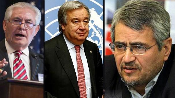 نامه ایران به سازمان ملل درباره سخنان وزیر خارجه آمریکا