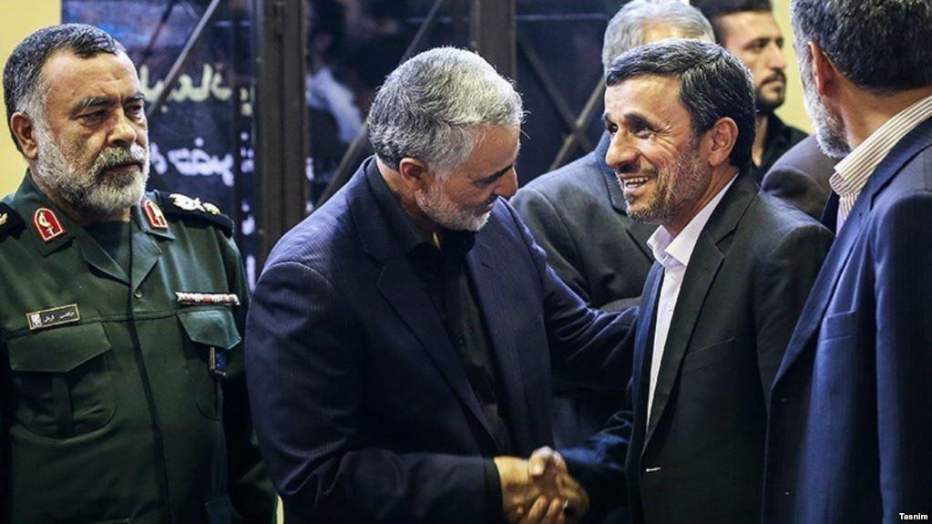 تهدید احمدینژاد به افشای «مراودات کاری» با سلیمانی