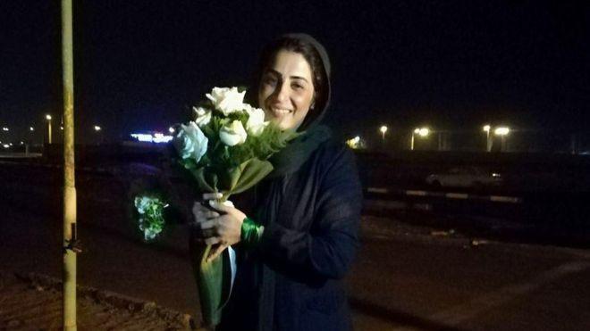 نرگس حسینی آزاد شد